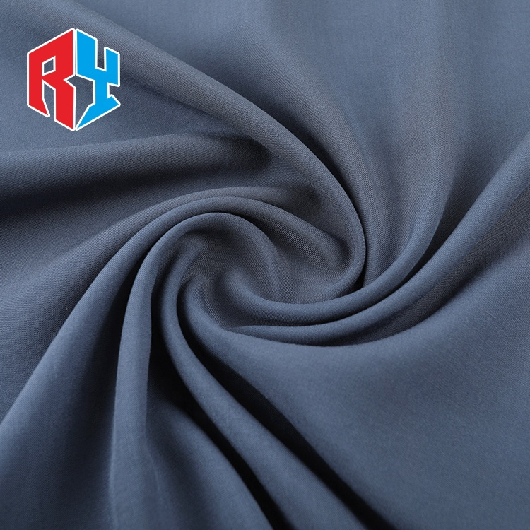 Modern design high quality hot selling plain bright color rayon grey fabric for dresses