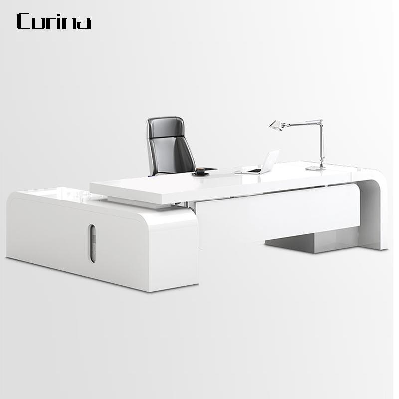 2020 Новейший современный белый прямоугольной формы из искусственного камня офисная мебель стол