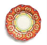 European creative ceramic plates dish bowl decorative hand-painted plate set tableware set