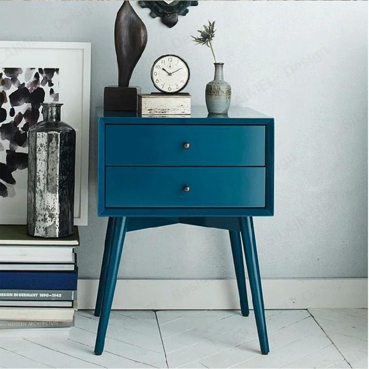 Renkli komidin modern yatak odası mobilyası Foshan fabrika kaliteli rekabetçi fiyat yan birleştirmek