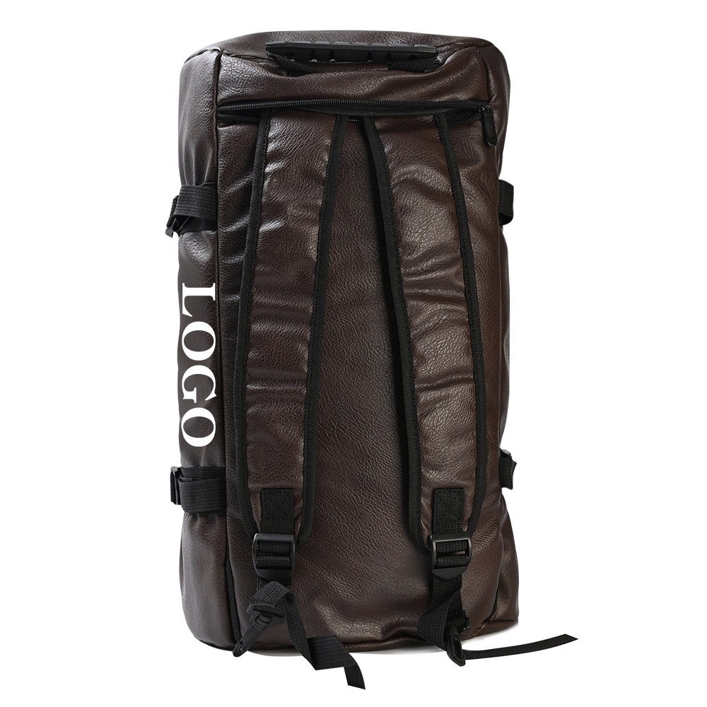 Wholesale leather athletic bag outdoor travel climbing hiking backpack spend a night multifunction backpack