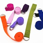 Gym fitness exercise Yoga Stretch strap D ring 100% Cotton Yoga Belt dance lacing Fitness Durable Custom logo