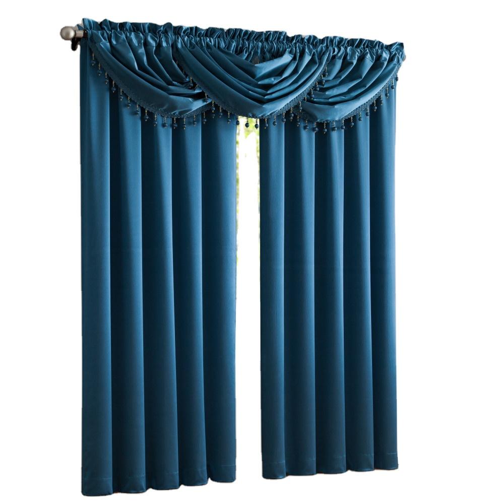 Америка Роскошные простые однотонные атласные шторы для гостиной, кухни, спальни, 1 панель, полиэстер, ткань, украшение для дома, окно
