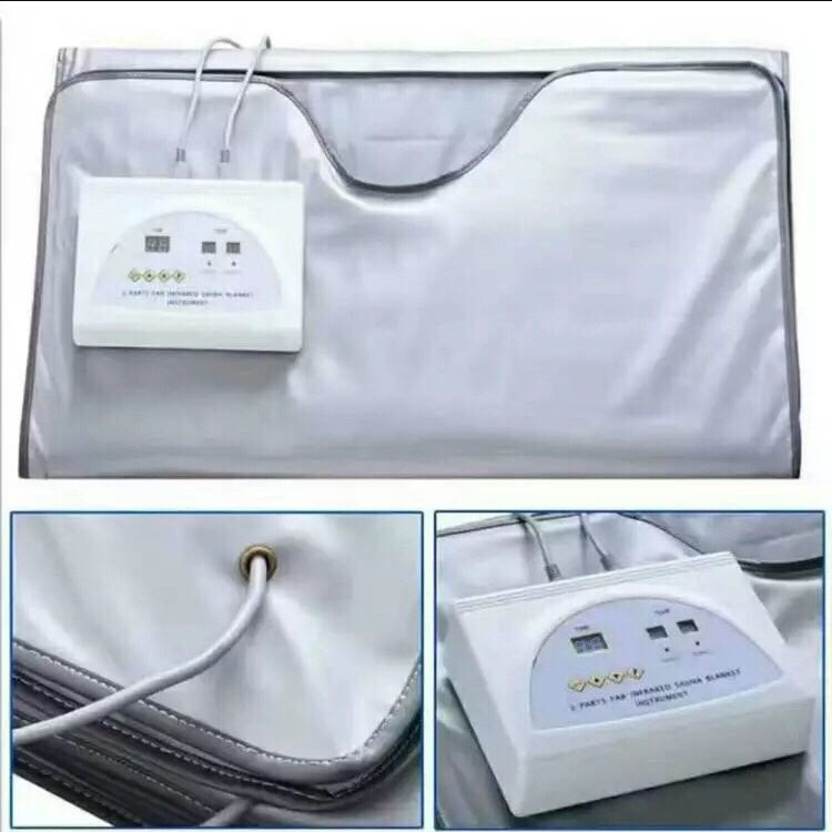 Portable body wrapping heating blanket weight loss and detoxification far infrared sauna blanket