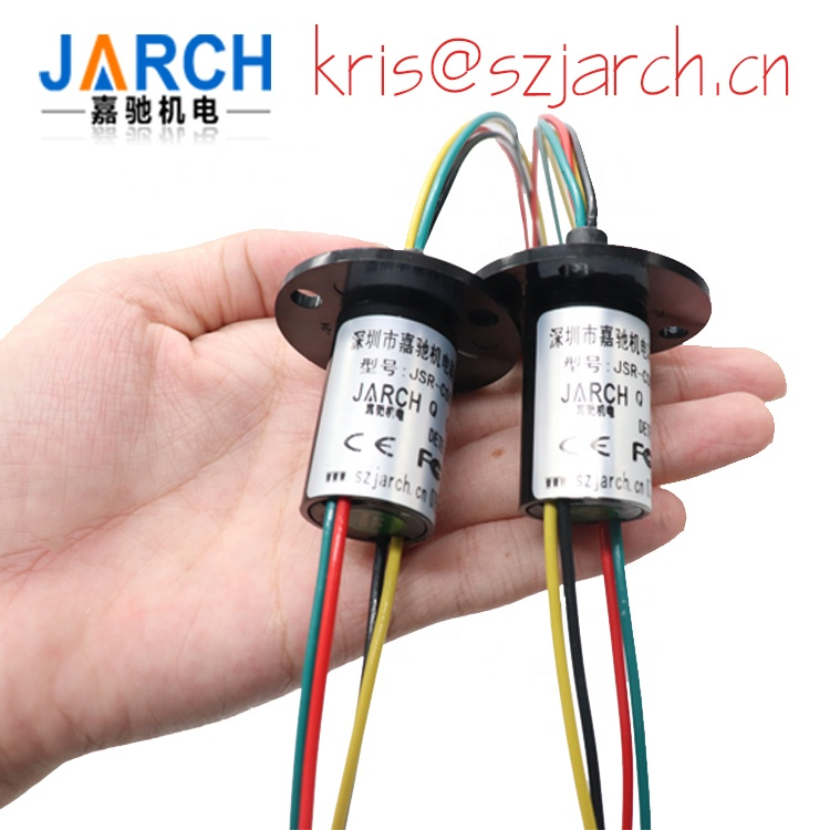Small current 1A 5A each 4 wires used wind power generator , wind turbine slip ring