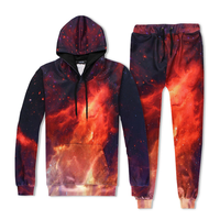 High Quality Digital Printing Men Autumn Clothing Hoodies+Pants Two Piece Casual Set