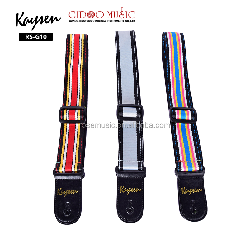 Wholesale musical instrument accessories OEM brand leather acoustic guitar straps for sale