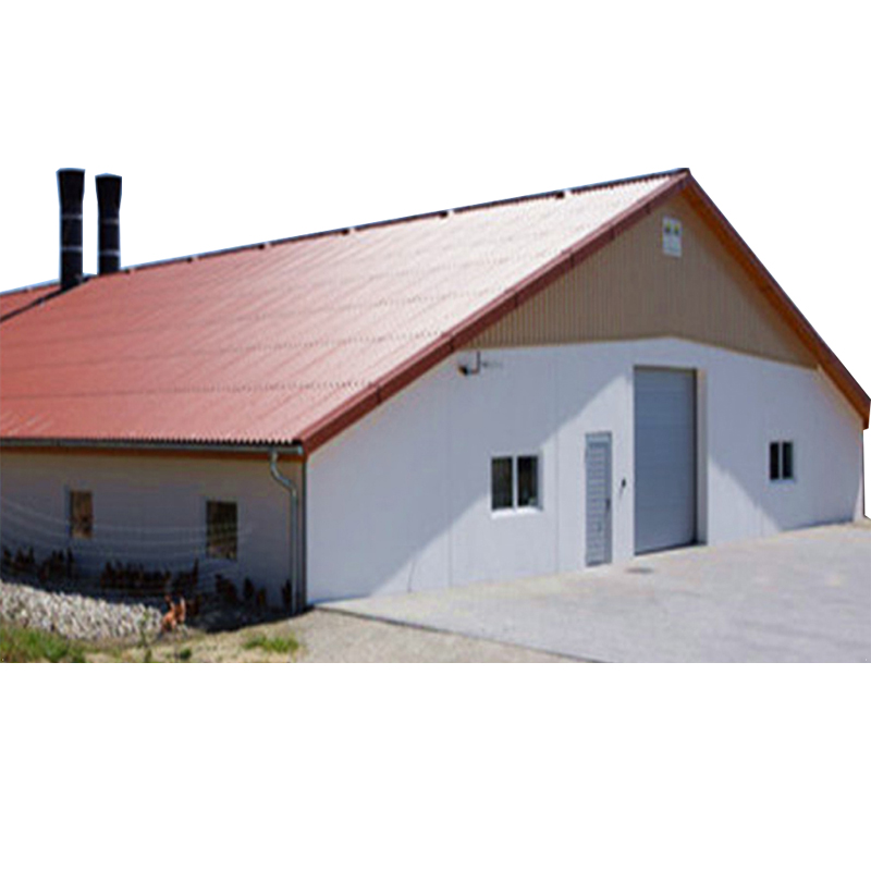 China prefabricated steel frame poultry farm sheds house with customized design drawing
