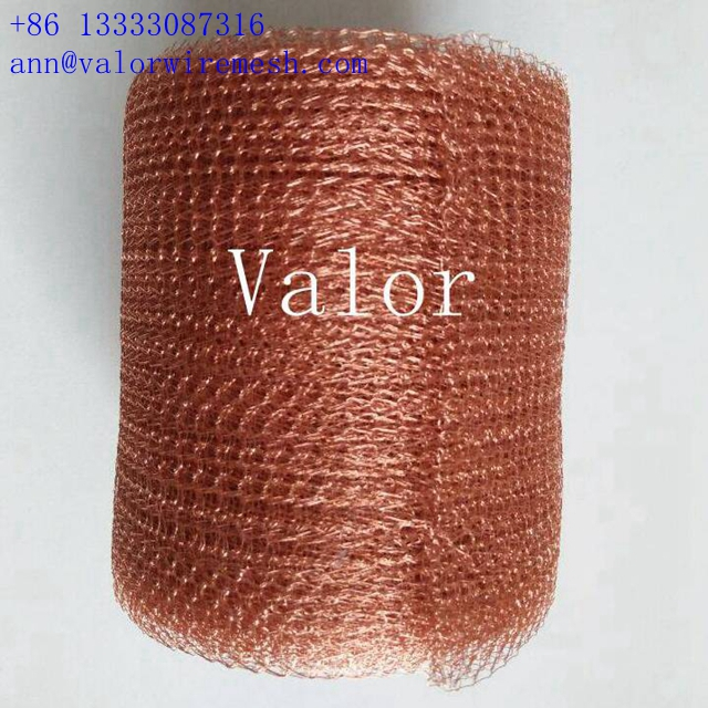 0.23mm copper knitted wire mesh rolls factory wholesale