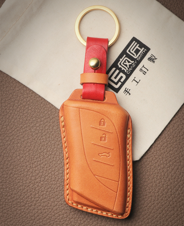 2020 NEW Hand Sewing High Grade Full Grain Genuine Leather Smart Car Key Case Cover for Lexus LS450\Es300\UX