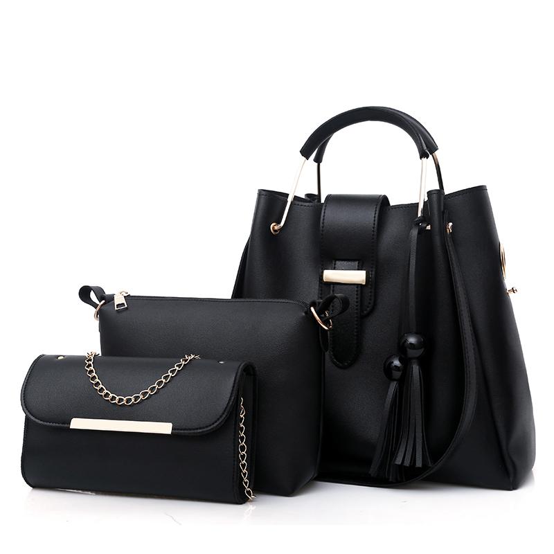 Wholesale Ladies Purses 3pcs Set Handbags For Women Large Capacity Bags