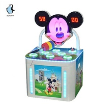 Digitale display kids hamer slaan led-verlichting coin operated games machines