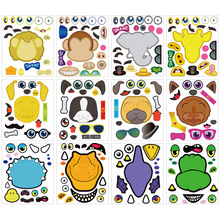 Animale Leone, <span class=keywords><strong>scimmia</strong></span>, elefante, giraffa, dinosauro puzzle sticker regalo label sticker