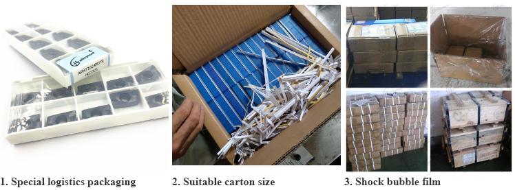 Inserzioni di fresatura del carburo degli strumenti per tornitura di fresatura dell'inserzione RPMT1003MO degli strumenti per tornitura del carburo di tungsteno di CNC