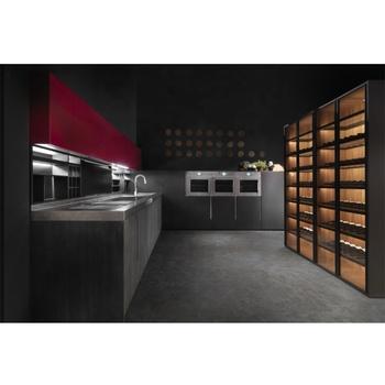 Modular Wood Grain Kitchen Cabinet