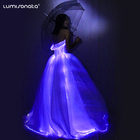 2020 New Arrival Wedding Bridal Gown Glow in the Dark Light up Luminous Glowing LED Fiber Optic Wedding Dress