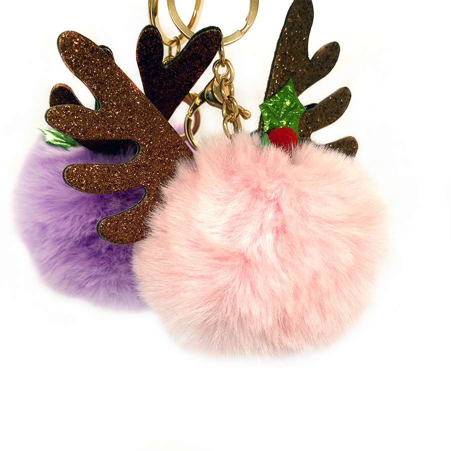 Pb2 Highlight Neanies Mint Leopard Black Blue Faux <strong>Fox</strong> <strong>Fur</strong> Puff <strong>Ball</strong> <strong>Keychain</strong> For Lip Gloss 3Cm 8Cm 10Cm 15Cm