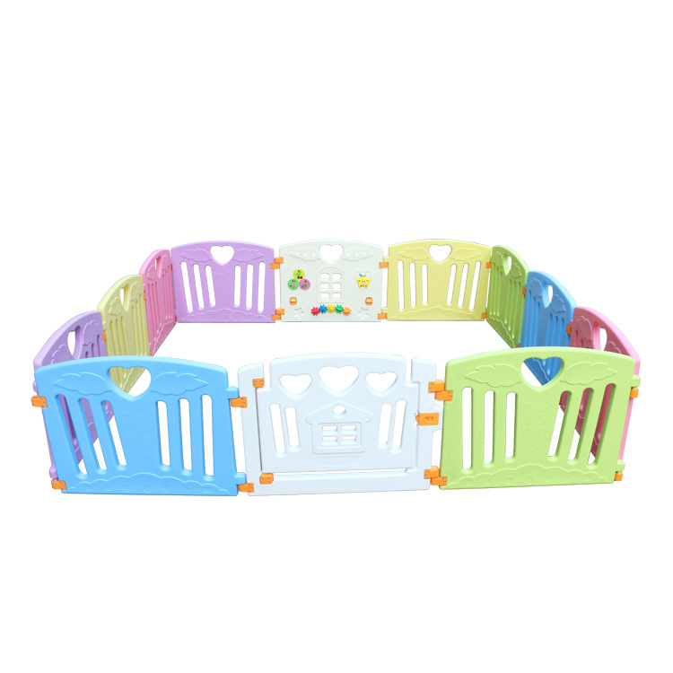 Non-Toxic Plastic Baby Playpen Mixed Colors PlayPen With Education Function