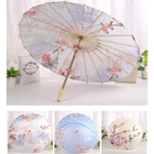 Chinese Japanese Oil Paper Umbrella Parasol Dancing Umbrella Wooden Handle Craft Wedding decor