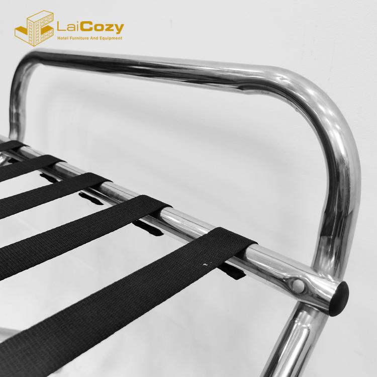 LAICOZY Modern / Antique Style Hotel Wood / Metal Folding Luggage Rack