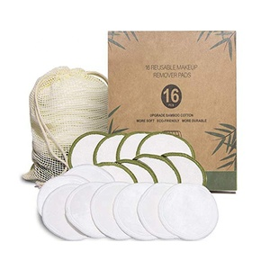 High Quality Factory Price Bamboo Reusable Cotton Washable Makeup Pad