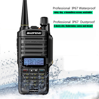 High Power UHF VHF Baofeng UV 9R Plus Walkie Talkie Two Way Radio