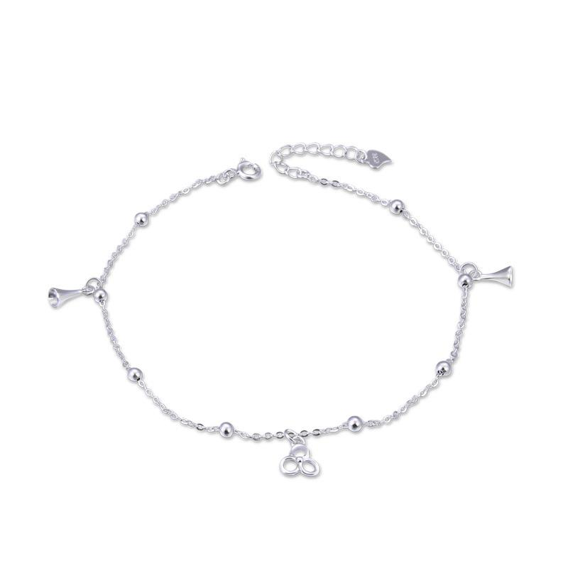 Dylam jewelry Sterling sliver 925 2020 Simple anklets foot Jewelry Sliver women anklets