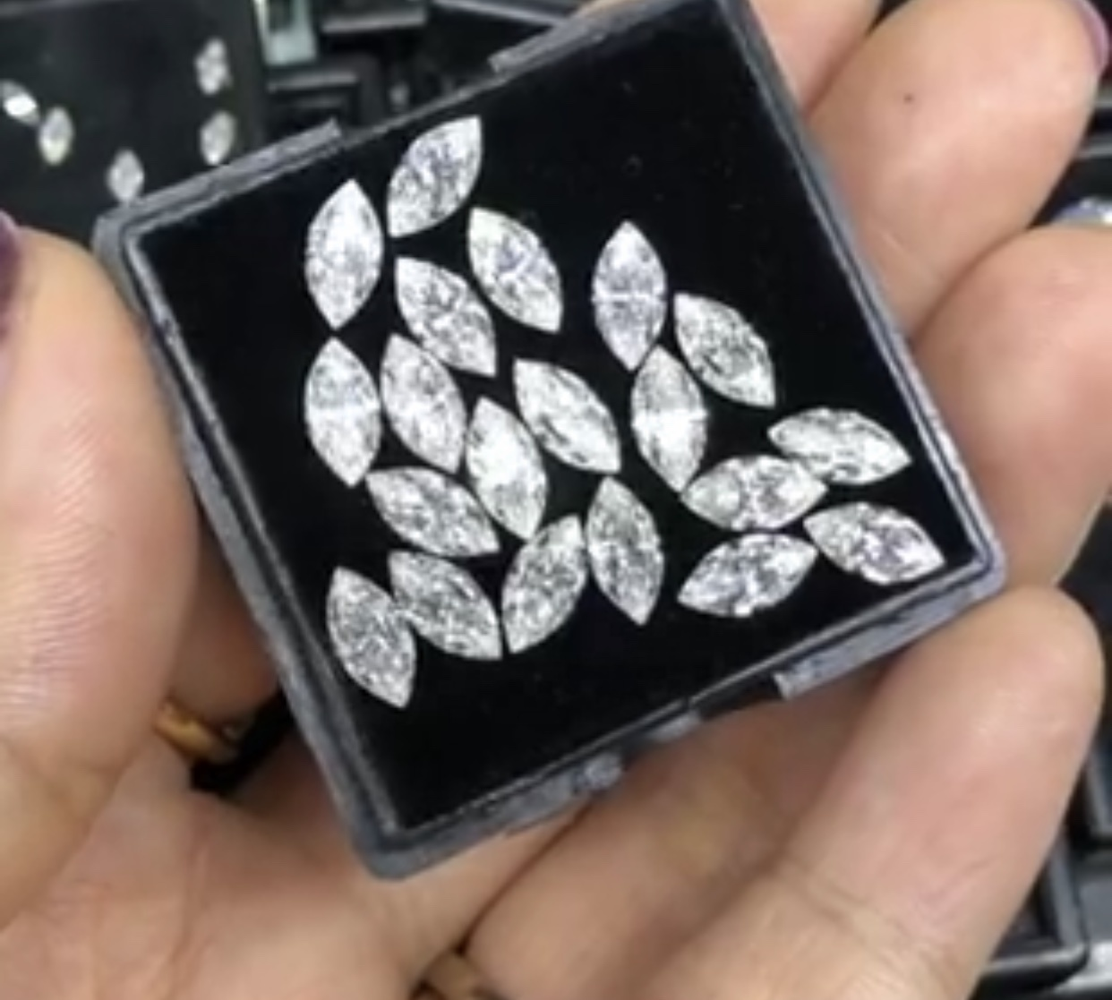 Best Quality DEF VVS Moissanite Diamonds 3mm to 5mm Marquis Cut use for jewelry making