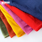 plain knitted stock microfiber milk fiber 95 polyester 5 elastane fabric for clothes