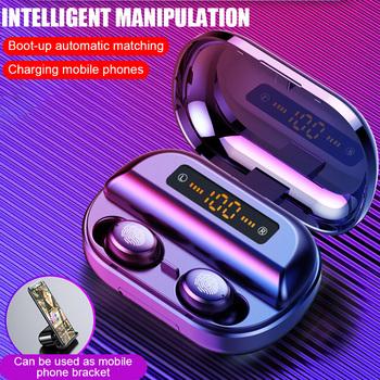 V11 Bluetooth Tws Casque 4000mah D'affichage À Led Sans Fil Bluetooth V5.0 Écouteurs 9d Étanches Stéréo Écouteurs Avec Microphone Buy Écouteurs