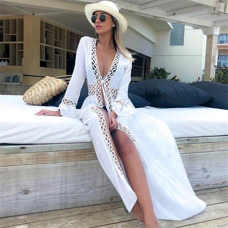 Kaftán de gasa vestido caftán bordado con cuentas Abaya Kaftan Maxi vestido