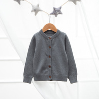 children cardigan kids plain candy color sweater cardigan with buttons OEM girls boys cardigan