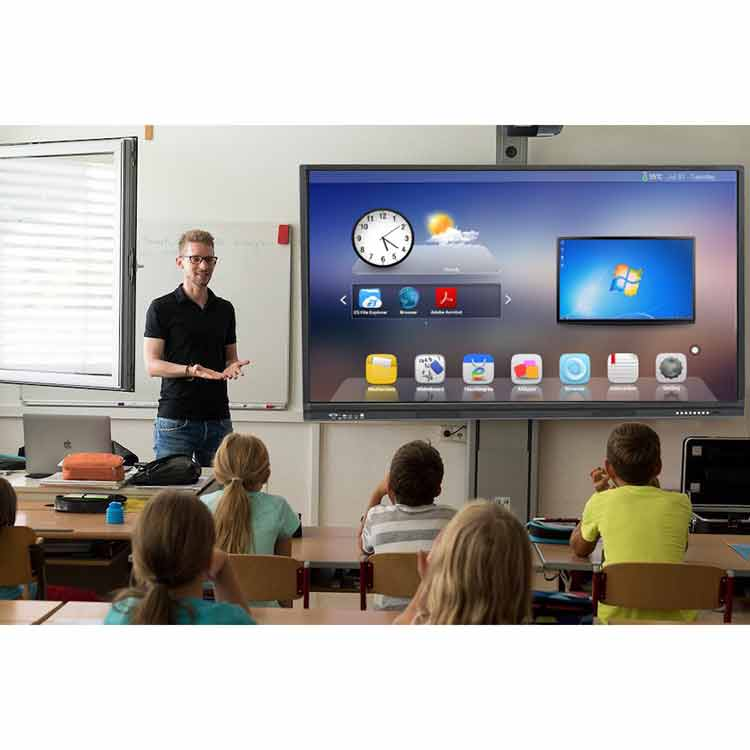 75 ''dual systeem smartboards ongevouwen intelligente white board 10 point touch screen interactieve whiteboard voor kleuterschool