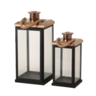 Outdoor Garden Hanging Metal lantern frames with Stainless steel Top candle lanterns candle lantern