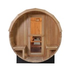 Sauna Wood Sauna 4 Person Wooden Sauna Barrel Outdoor With Wood Burning Stove