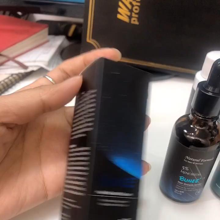 50Ml BUNEE OEM Minoxidil 5% Biotin Hair Liquid Hair Growth Serumสำหรับชาย