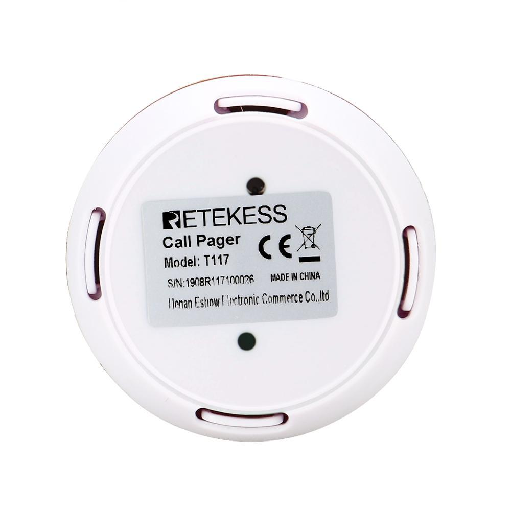 Russian 433MHz Wireless Cafe Spar Club Restaurant Service Waiter Calling Transmitter Button Call Pager Four-key Retekess T117