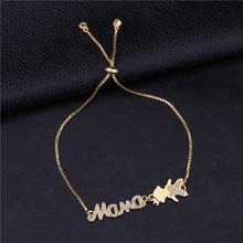 Женское Ожерелье с микро цирконием Juya, ожерелье с буквами «мама», подарок на день рождения, ювелирные изделия(Китай)