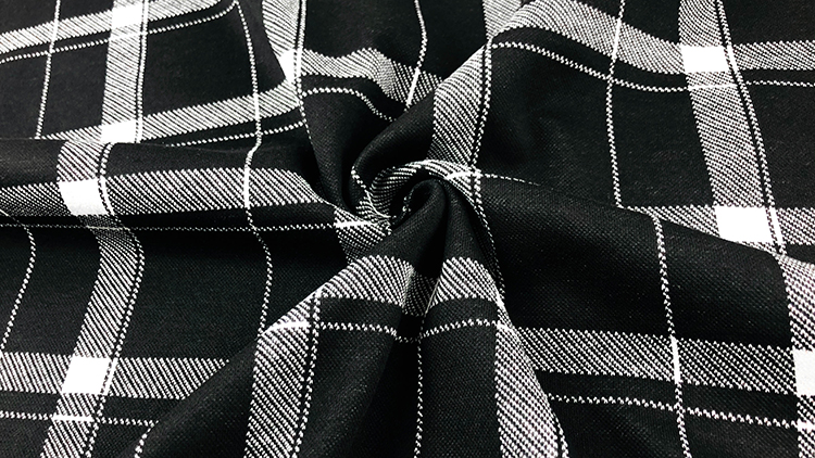 Latest product development rayon nylon polyester spandex siro plaid  Roma with fabric