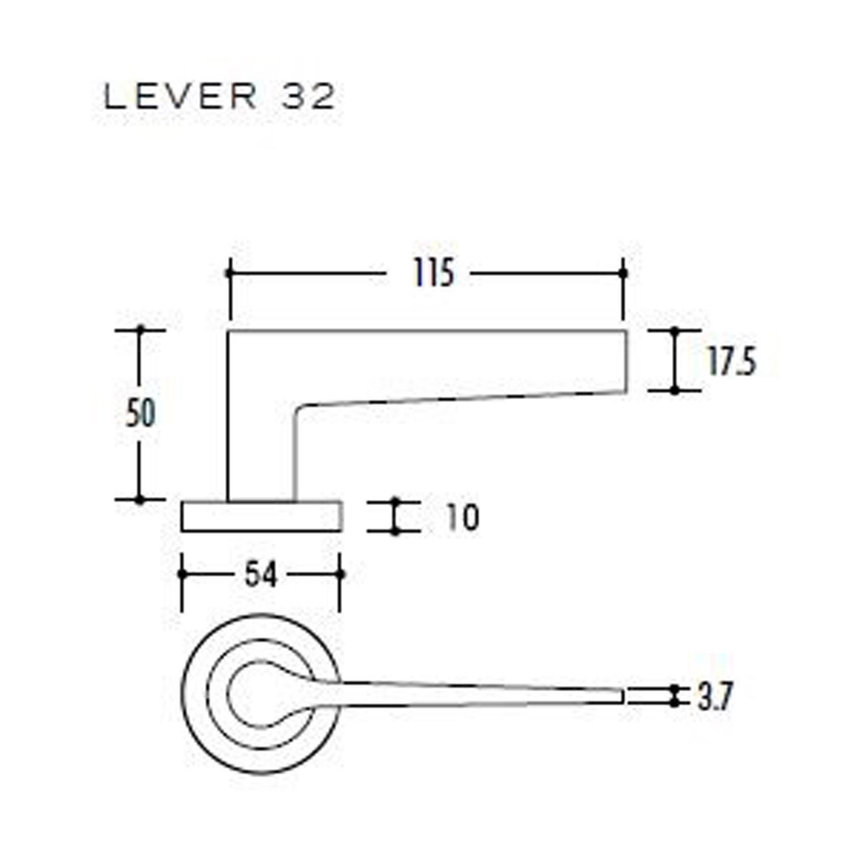 STAINLESS STEEL 304 CASTING DOOR LEVER HANDLE