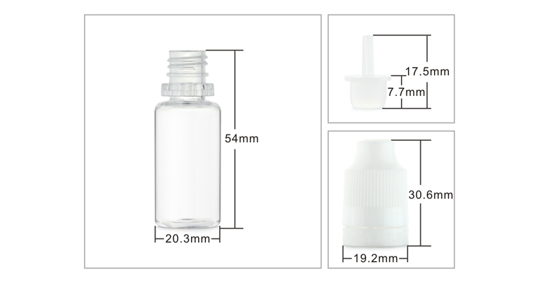 hot sale long thin dropper 10ml clear pet e liquid bottles