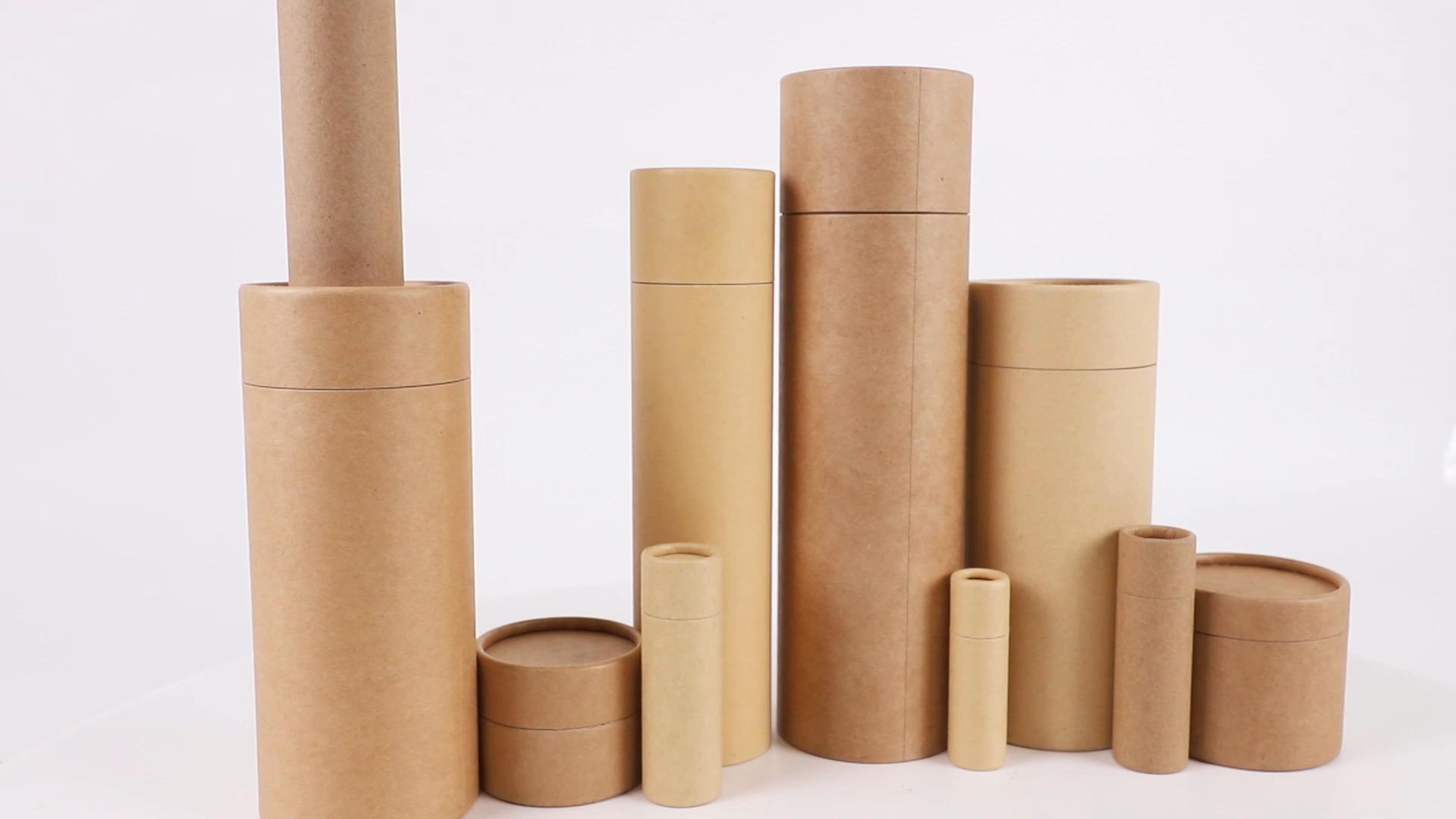 Su misura del Mestiere di Carta Scatola di Imballaggio Cilindro Contenitori Rotondi Per Il Cibo Imballaggio Tubo di Carta