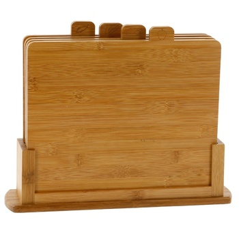 Wholesale Chopping Board with 4 Index Tabs Durable Best Price Custom Bamboo Cutting Boards Set Chopping Blocks