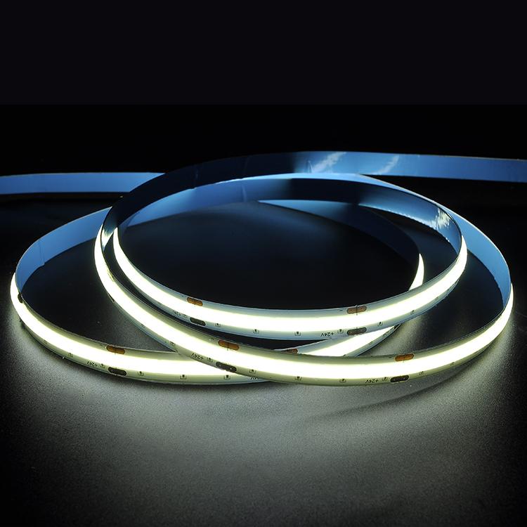 Custom logo latest design 180 degreee Spot-Free lexible COB LED Strips Light  light warm white