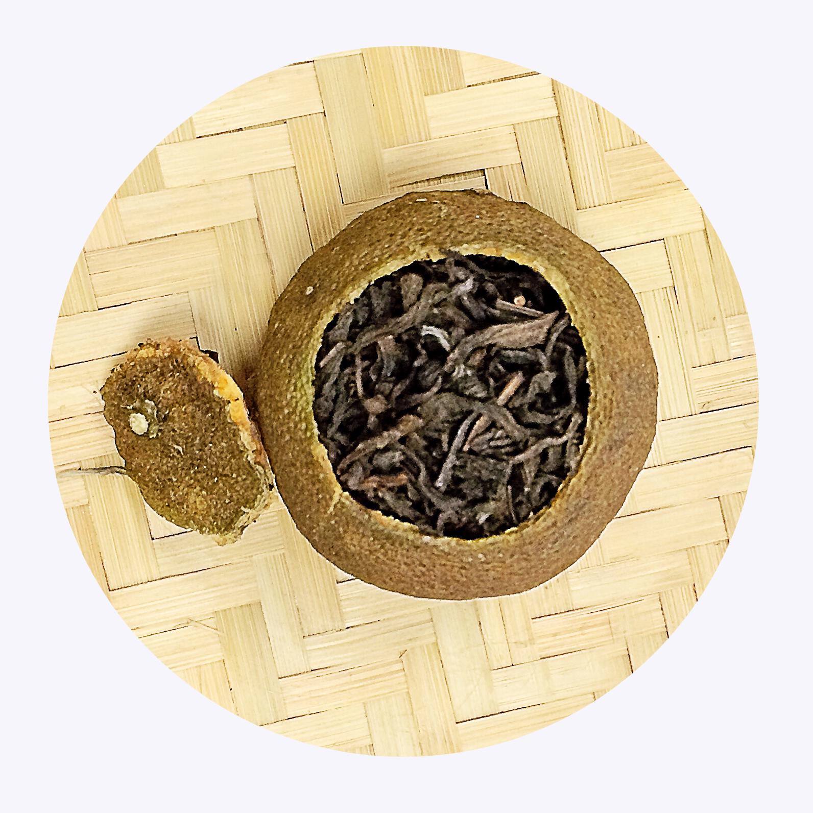 White Puer Tea in Mandarin Orange - 4uTea   4uTea.com