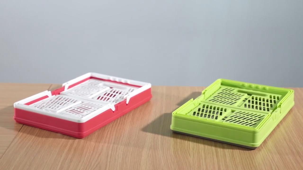 פופולרי סין מתקפל מטבח פירות כביסה פלסטיק Stackable מתנה אחסון סל קניות
