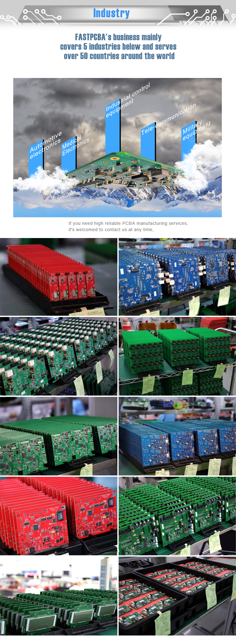control board pcba customized assembly pcb for electronic products