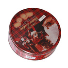 Handmade Cookies Biscuit Tin Round storage box Metal Snack box Food Container Gift Box Candy Can Mix design