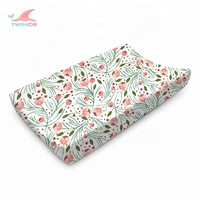 Factory wholesale customize GOTS approved organic cotton changing pad cover set