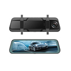 10 inch Touch Screen Rearview Mirror Streaming Video Dual Camera Dash cam 1080P Car DVR